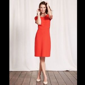 🆕BODEN Cordelia Ottoman Ribbed Dress Orange Red